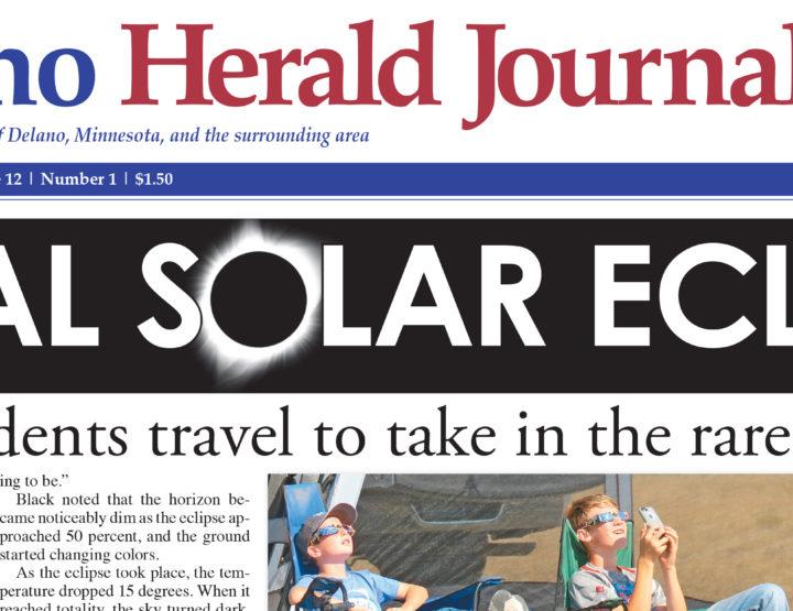 Delano Herald Journal - Eclipse image