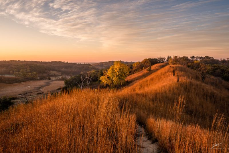 Glowing Ridge At The Loess Hills Scenic Overlook