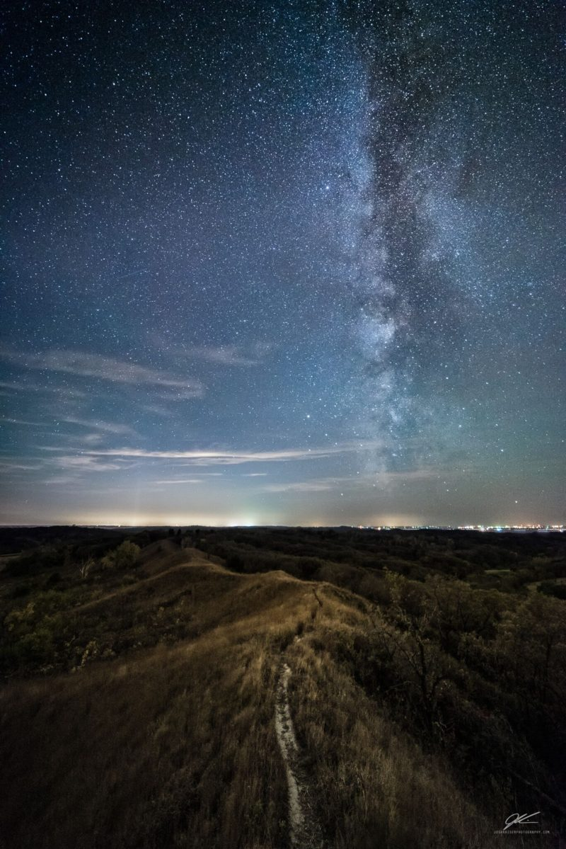 Milky Way At The Loess Hills Scenic Overlook